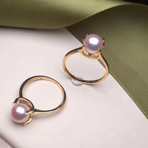 Capture Collection Akoya Pearl Solitaire Ring - takaramonobr