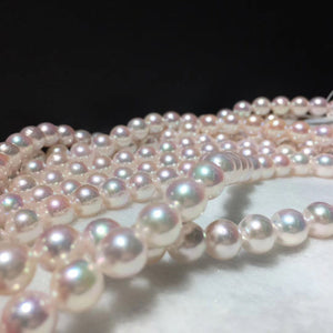 Stunning 16 Inches 8.0-8.5 mm Japanese White Akoya Pearl Necklace for Women - takaramonobr