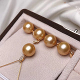 12-13 mm golden south sea pearl pendant front feature