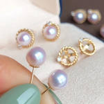 Load image into Gallery viewer, Detachable 5.5-6.0 mm Akoya Pearl Earrings Mounted on G18K for Women - takaramonobr