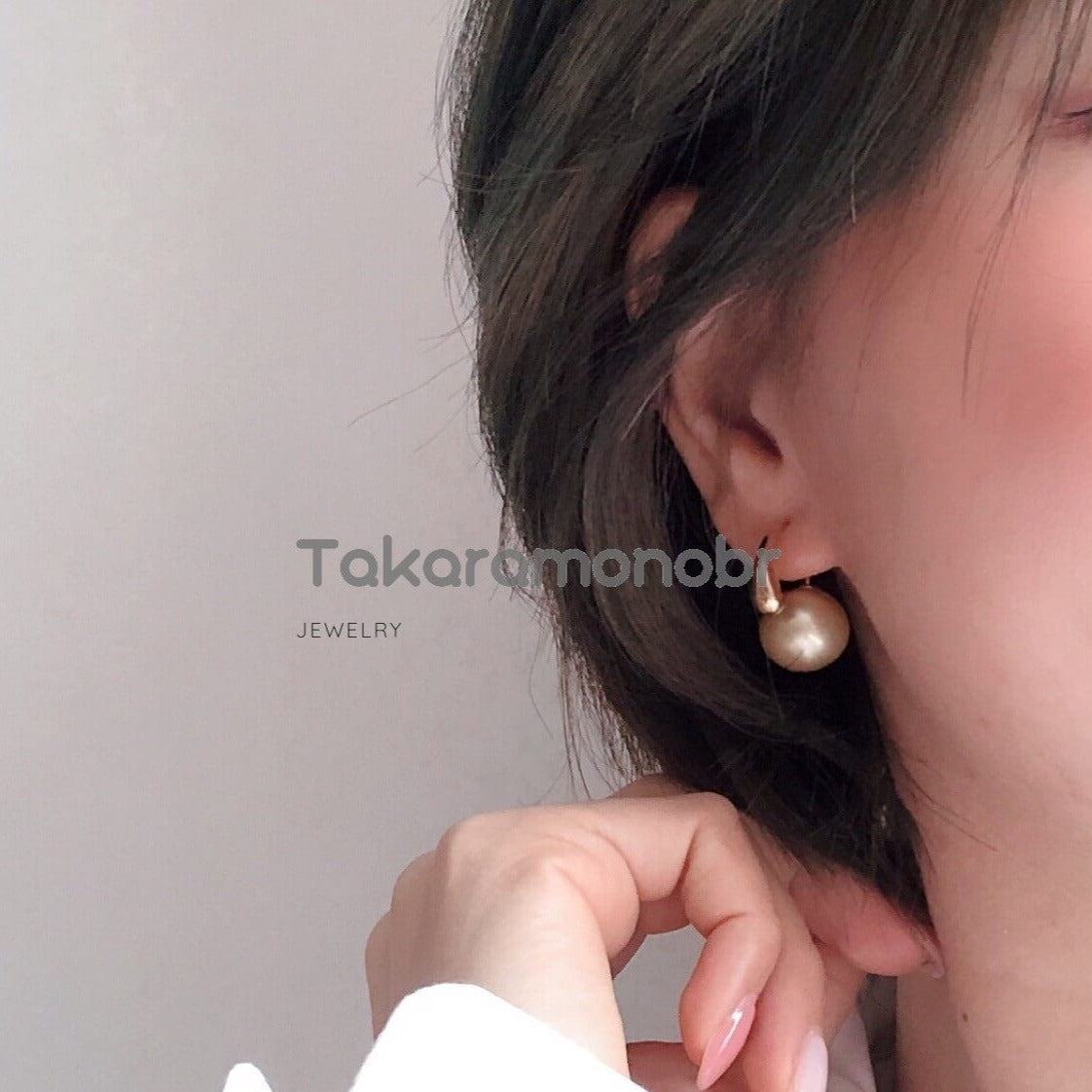 13.0-14.0 mm Golden South Sea Pearl Earrings in 18K Gold for Women - takaramonobr