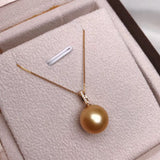12-13 mm golden south sea pearl pendant front