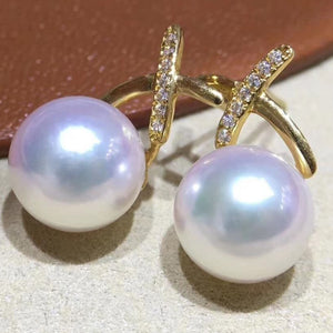 cultured pearl necklace and earring set