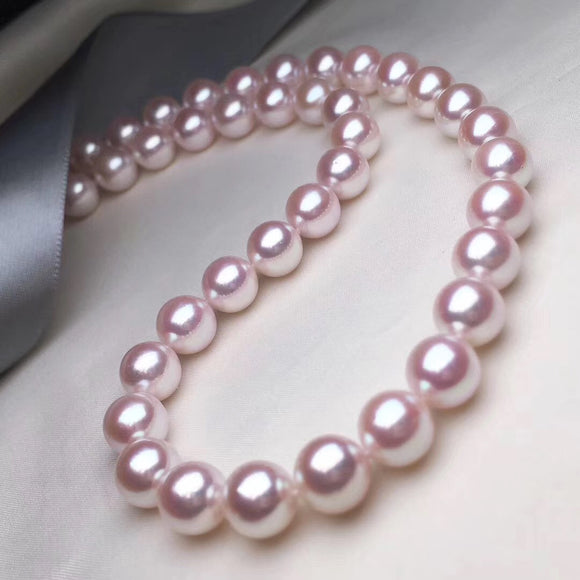 10.0-10.5 mm Top Range Large Size White Akoya Necklace for Jewelry Collection - takaramonobr