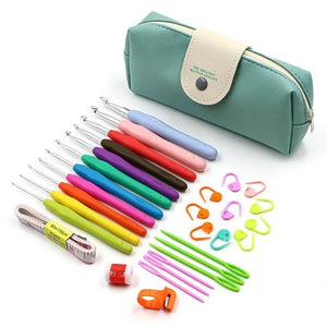 30pcs Crochet Hooks Set with Storage Bag Yarn