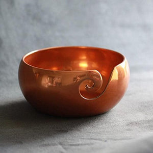 Furls Copper Finish Yarn Bowl