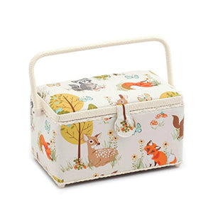 'Woodland' Deep Rectangle Sewing Box 15 x 30 x 17cm (d/w/h)