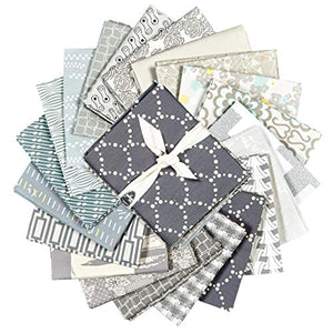 Art Gallery Fabrics Exclusive Bundle 20 Fat Quarters Grey