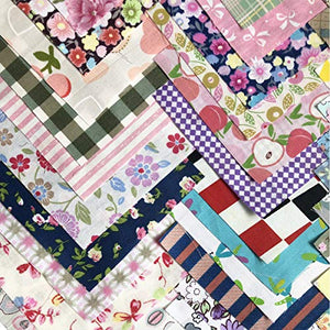 200 pcs Fabric Squares Sheets Patchwork Craft Cotton Quilting Fabric Bundles