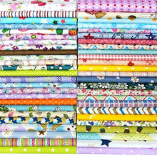 "Load image into Gallery viewer, Amazon.com: Quilting Fabric, Misscrafts 25pcs 8"" x 8"" (20cm x 20cm) Cotton Craft Fabric Bundle Patchwork Pre-Cut Quilt Squares for DIY Sewing Scrapbooking Quilting Dot Pattern"