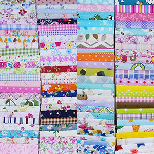 "Amazon.com: Quilting Fabric, Misscrafts 25pcs 8"" x 8"" (20cm x 20cm) Cotton Craft Fabric Bundle Patchwork Pre-Cut Quilt Squares for DIY Sewing Scrapbooking Quilting Dot Pattern"