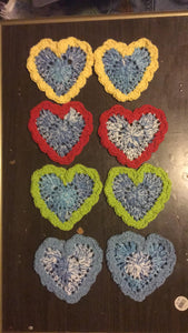 Set of 8 Heart Shaped coasters