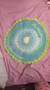 Multi Color Doily w/ Scallop