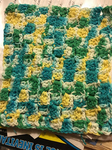 Multi Color Rectangle Dishrag