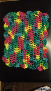 Multi Color Scallop Rectangle Dishrag