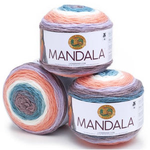 Lion Brand Yarn Mandala Classic Novelty Yarn, Pack of 3