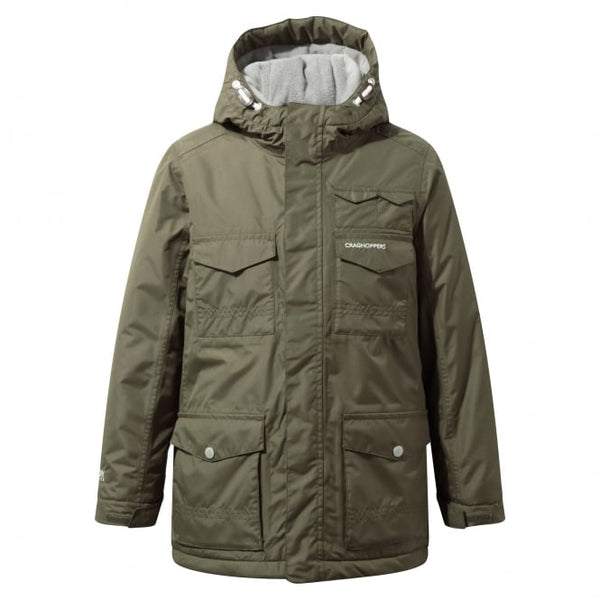 craghoppers kids waterproof alix jacket dark mosss
