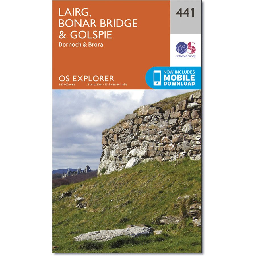Ordnance Survey  441 Lairg, Bonar Bridge & Golspie