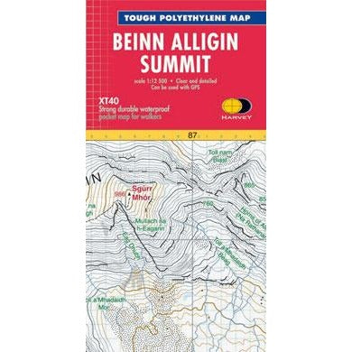 BEINN ALLIGIN SUMMET MAP