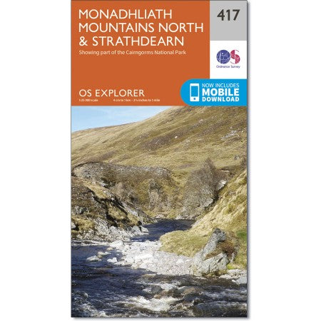 Ordnance Survey  471 Monadhliath Mountains North & Strathdearn