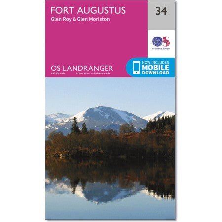 Ordnance Survey 34 Fort Augustus Glen Roy & Glen Moriston