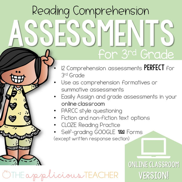 3rd Grade Reading Comprehension Tests Digital Classroom
