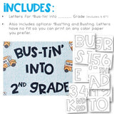 Back to School Bulletin Board: Bustin into School