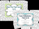 Basic Addition and Multiplication Flash Cards Bundle (0-9)