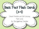 Basic Fact Flash Cards (0-9)
