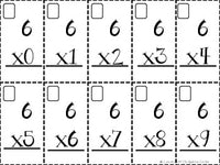 Basic Multiplication Fact Flash Cards (0-9)