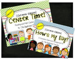 Chevron Themed Classroom Management and Center Pack