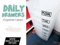 Daily Drawer Organizer Labels FREE