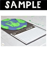Earth Day Activity Writing and Hand-print Earth Craft Free