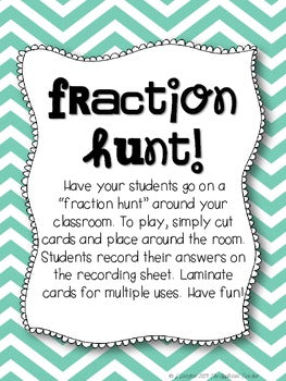 Fraction Hunt Freebie!