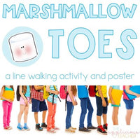Marshmallow Toes Line Walking Activity Poster
