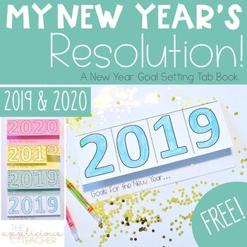 New Year's Resolution 2019 & 2020 Tab Book