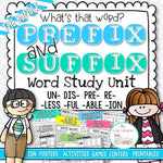 Prefix and Suffix Activities
