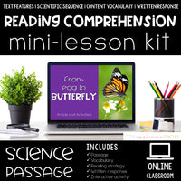 Digital Reading Comprehension Mini-Lessons: From Egg to Butterfly