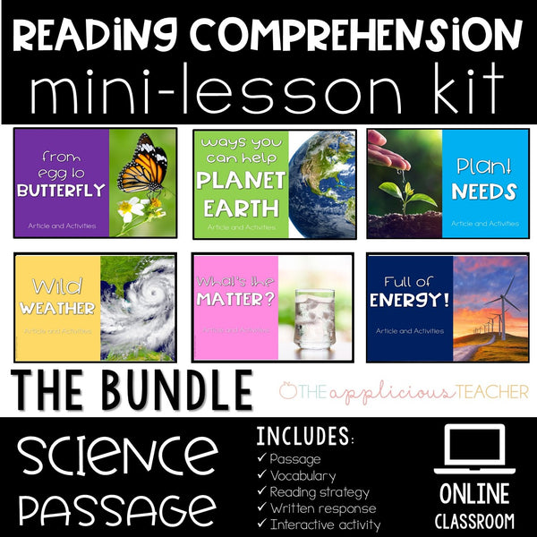 Reading Comprehension Mini-Lessons: The Science Bundle