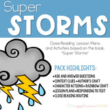 Super Storms Activities Weather Close Reading