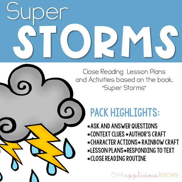 Super Storms: Close Reading Activities