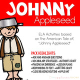 Johnny Appleseed Close Reading Activities