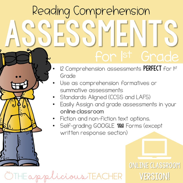 1st Grade Reading Comprehension Assessments DIGITAL CLASSROOM