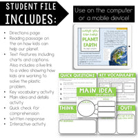 Help Planet Earth Reading Comprehension Mini Lesson for Digital Classrooms