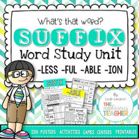Suffix Activities: less full ion able