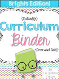 Teacher Binder BRIGHTS