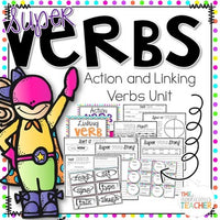 Parts of Speech Activities: Nouns, Verbs, and Adjectives Bundle