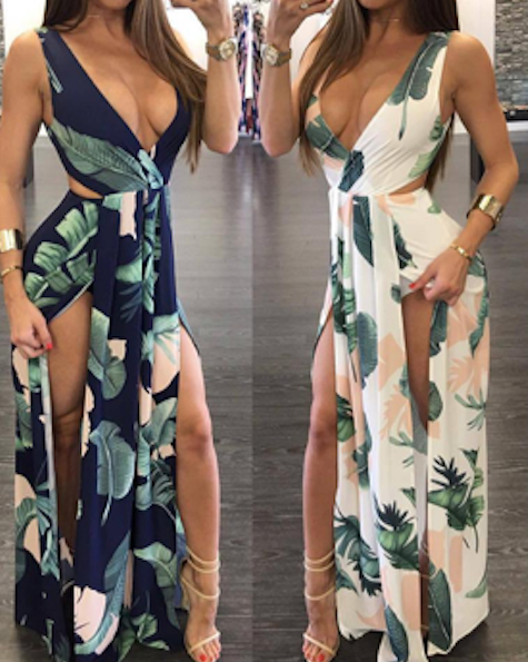 Miami Wave Floral Dress
