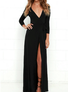 Jolie Long Slit Dress