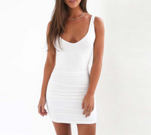 Ruched Summer Backless Dress